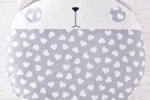 Круглая подушка котик, серая подушка в сердечки - ІНШІ РОБОТИ