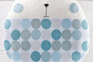 Робота Круглая подушка мишка, голубая подушка в детскую