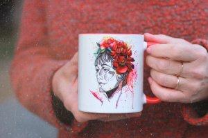Робота Чашка с авторской иллюстрацией «Анна Ахматова»