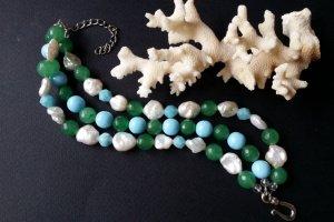 Робота Браслет голубий зелений білий Свіжість