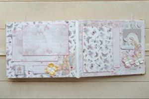 Детский фотоальбом для новорожленной девочки Шебби Шик - Опис