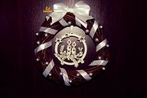 Рождественский венок Праздничный свет