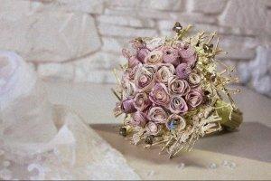 «Предрассветные розы»  букет невесты