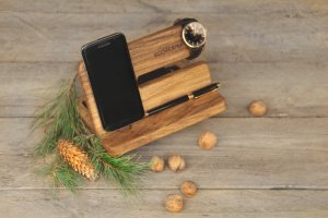 Эко Органайзер Из Дерева Подставка Для Телефона Для Мужчин - Опис