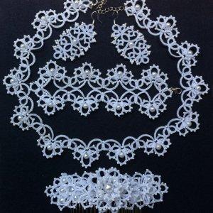 Робота Свадебный комплект украшений фриволите анкарс