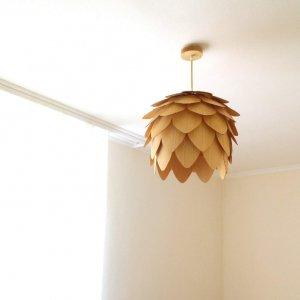 Робота Деревянный светильник. Светильник из шпона.