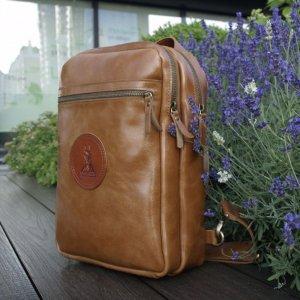 Робота Небольшой кожаный рюкзак на 1 шлейку