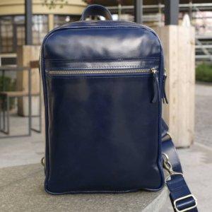 Робота Небольшой кожаный рюкзак на 1 шлейку Синий