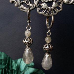 Робота Сірі сережки зі сріблом