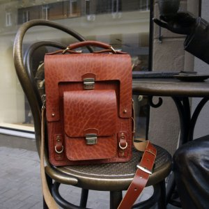 Робота Мужской портфель из ременной кожи
