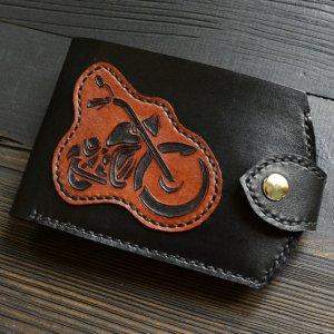 Робота Портмоне з мотоциклом