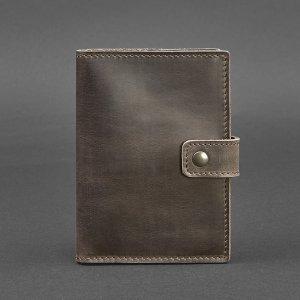 Робота Кожаная обложка для паспорта 5.0 (с окошком) коричневая