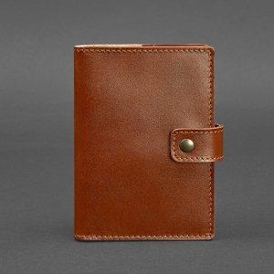 Робота Кожаная обложка для паспорта 5 (с окошком) светло-коричневая
