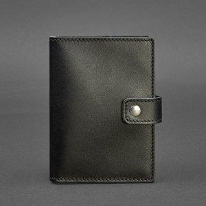 Робота Кожаная обложка для паспорта 5 (с окошком) черная