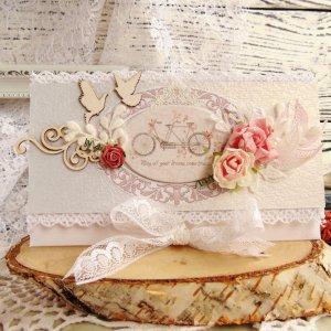 Робота Нежный свадебный конверт с голубями