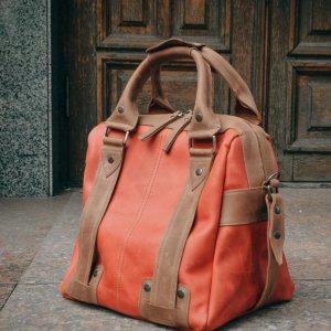 Робота Женская дорожная сумка, Красный саквояж