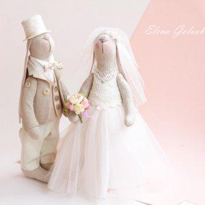 """Робота Свадебная пара зайчиков """"Розовые облака"""""""