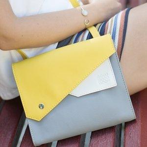 """Робота Сумка """"Frida"""", серая сумка, желтая сумочка"""