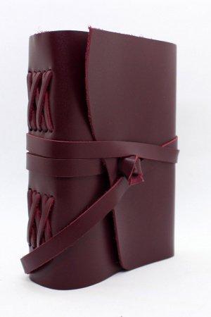 Женский кожаный блокнот цвета бордо