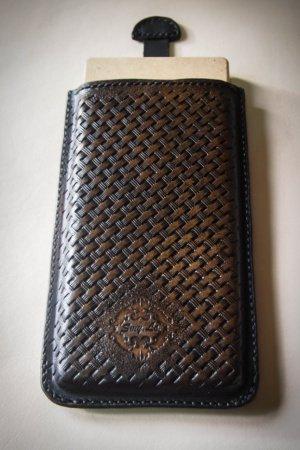 Кожаный чехол карман для телефона