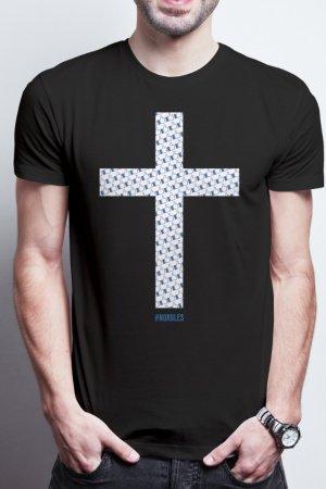 Футболка мужская Facebook Jesus черная от DobzhanskyiVFX